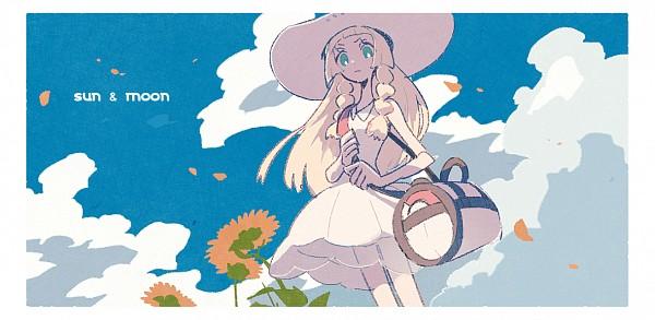 Tags: Anime, Pixiv Id 3393042, Pokémon Sun & Moon, Pokémon, Lillie (Pokémon), Fanart From Pixiv, Facebook Cover, PNG Conversion, Pixiv, Fanart