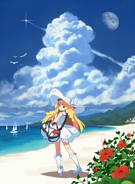 Tags: Anime, Pixiv Id 1757554, Pokémon Sun & Moon, Pokémon, Wingull, Lillie (Pokémon), Boat, Mobile Wallpaper, Pixiv, Fanart From Pixiv, Fanart