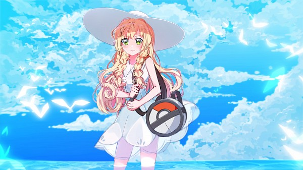 Tags: Anime, Mashunya-chan, Pokémon Sun & Moon, Pokémon, Lillie (Pokémon), Pixiv, Wallpaper, Fanart, Fanart From Pixiv