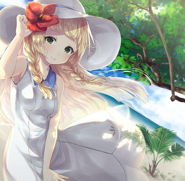 Tags: Anime, Pixiv Id 9782142, Pokémon Sun & Moon, Pokémon, Lillie (Pokémon), PNG Conversion