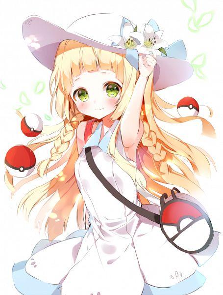 Tags: Anime, BR (Pixiv6253024), Pokémon Sun & Moon, Pokémon, Lillie (Pokémon), White Lily, Hat Flower, PNG Conversion, Mobile Wallpaper