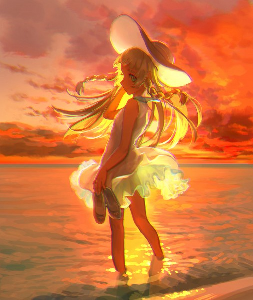 Tags: Anime, Pixiv Id 1209207, Pokémon Sun & Moon, Pokémon, Lillie (Pokémon), Footwear Off, Fanart, Fanart From Pixiv, Pixiv