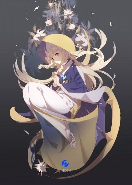 Tags: Anime, No-kan, Pokémon Sun & Moon, Pokémon, Lillie (Pokémon), Shiromuku, Flip Flops, Pokémon (Cosplay), Lunala (Cosplay), Mobile Wallpaper, Fanart, Twitter