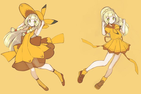 Tags: Anime, Pixiv Id 3100833, Pokémon Sun & Moon, Pokémon, Lillie (Pokémon), Yellow Headwear, Pikachu (Cosplay), Pokémon (Cosplay), Yellow Hat, Fanart From Pixiv, Pixiv, Fanart