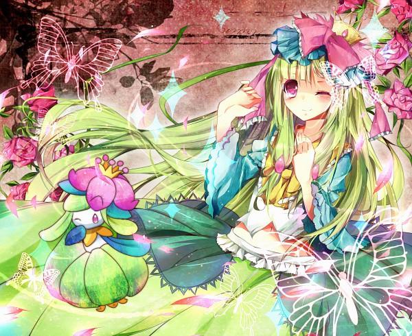 Tags: Anime, Homare (Pixiv1159992), Pokémon, Lilligant, Wallpaper, Shiny Pokémon