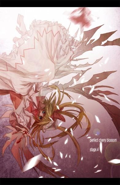 Tags: Anime, Lastdark, Touhou, Perfect Cherry Blossom, Lily White, Hakurei Reimu, Fanart From Pixiv, Fanart, Pixiv