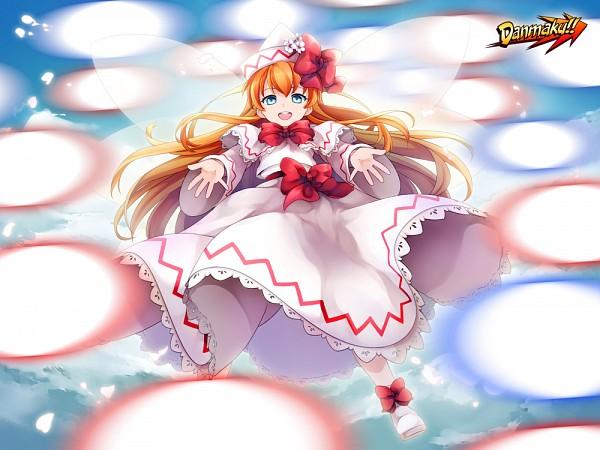 Tags: Anime, Ninamo, Touhou, Lily White, Danmaku, Lace Trim, Fanart From Pixiv, Fanart, Pixiv, Requested Upload