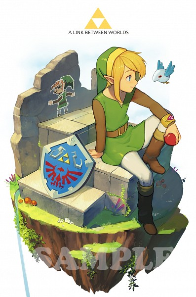 Tags: Anime, Pixiv Id 6867660, Zelda no Densetsu: Kamigami no Triforce 2, Zelda no Densetsu, Link, Link (Kamigami no Triforce 2), Text: Sample, PNG Conversion, Twitter
