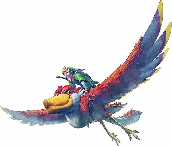 Tags: Anime, Nintendo, Zelda no Densetsu, Zelda no Densetsu: Skyward Sword, Link (Skyward Sword), Link, Loftwing, Cover Image, Official Art, Artist Request