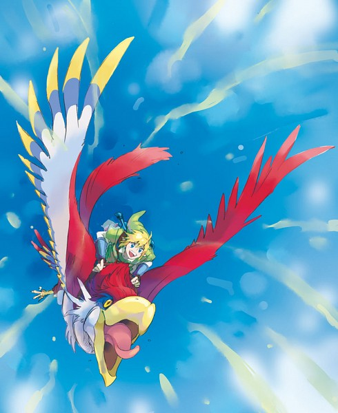 Tags: Anime, Pixiv Id 349014, Zelda no Densetsu, Zelda no Densetsu: Skyward Sword, Loftwing, Link (Skyward Sword), Link, Pixiv, Fanart From Pixiv, Fanart