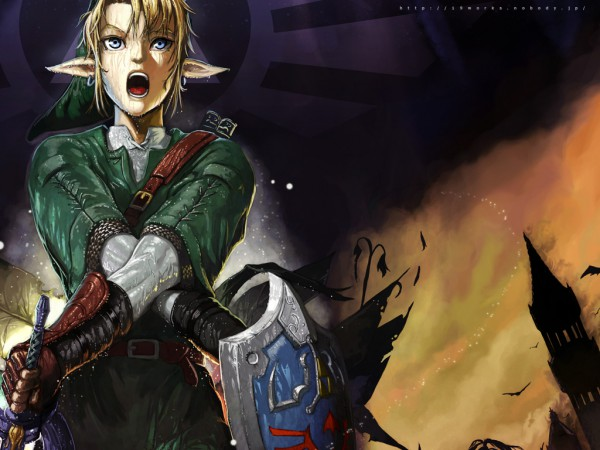 Tags: Anime, Nekkeau, Zelda no Densetsu, Link (Twilight Princess), Link, Wallpaper