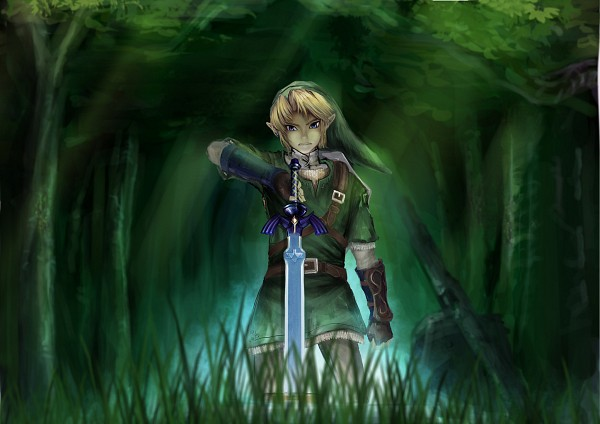Tags: Anime, Pixiv Id 2709796, Zelda no Densetsu, Link, Master Sword, Tunic, Pixiv, Fanart From Pixiv, Fanart