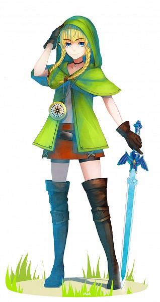 Tags: Anime, Pixiv Id 2709796, Zelda no Densetsu, Zelda Musou, Linkle, Compass, Master Sword, Pixiv, Fanart From Pixiv, Fanart, Mobile Wallpaper