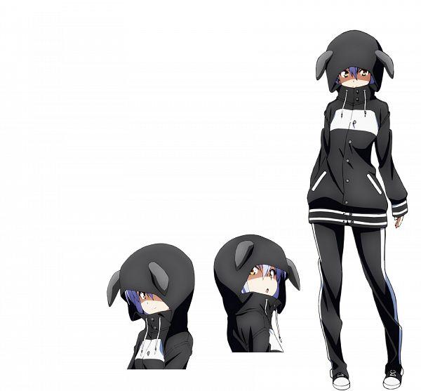 Tags: Anime, Kawamura Kousuke, Feel (Studio), Island (VN), Linne O'hara, Black, Kigurumi, Character Sheet, Official Art, Cover Image