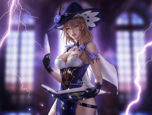 Tags: Anime, Wickellia, Genshin Impact, Lisa (Genshin Impact), Fanart From DeviantART, deviantART, Fanart