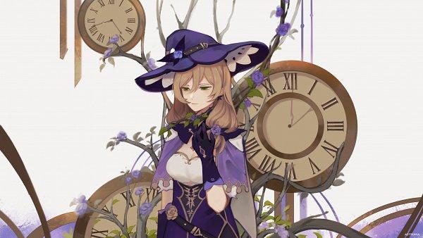 Tags: Anime, Astrumaa, Genshin Impact, Lisa (Genshin Impact), 2048x1152 Wallpaper, Tumblr, Wallpaper, Fanart, Fanart From Tumblr