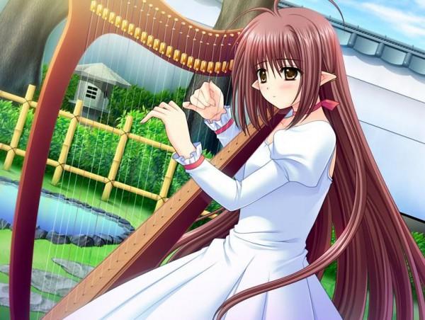 Tags: Anime, Suzuhira Hiro, Nishimata Aoi, Navel (Studio), Shuffle!, Lisianthus Eustoma, Harp