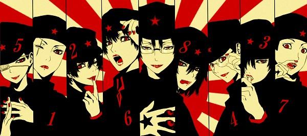 Tags: Anime, yyy., Litchi Hikari Club, Ishikawa Naritoshi, Tsunekawa Hiroyuki, Kaneda Riku, Tabuse Katsuya, Ichihashi Raizou, Tamiya Hiroshi, Ameya Norimizu, Rising Sun Motif, Pixiv, Fanart, Lychee Light Club