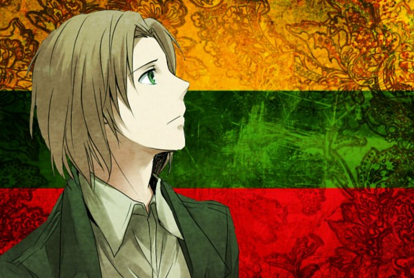 Tags: Anime, Axis Powers: Hetalia, Lithuania, Lithuanian Flag, Flag Background, Artist Request, Soviet Union