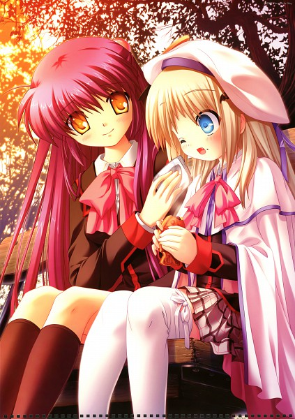 Tags: Anime, KEY (Studio), Little Busters! 2008 Calendar, Little Busters!, Futaki Kanata, Noumi Kudryavka, Official Art