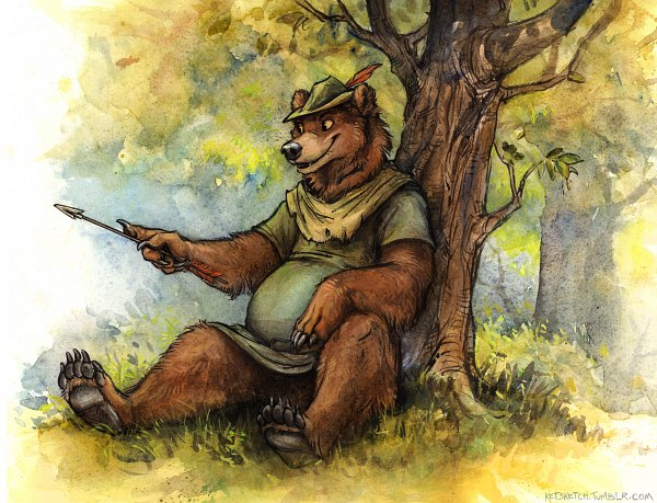 Tags: Anime, Kenket, Robin Hood (Disney), Little John (Character), Disney, deviantART, Fanart, Fanart From DeviantART