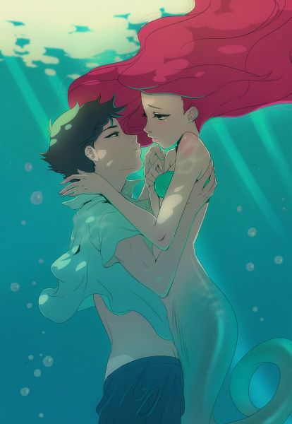 Tags: Anime, Angela Vianello, Disney, Little Mermaid, Little Mermaid (Disney), Prince Eric, Ariel, Fanart, Mobile Wallpaper