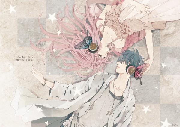 Tags: Anime, Sumishuu, Sanrio, Lala (Sanrio), Kiki (Sanrio), Yin Yang Arrangement, Magnet, Pixiv, Little Twin Stars