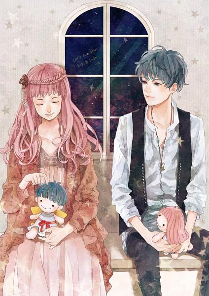 Tags: Anime, Sumishuu, Sanrio, Lala (Sanrio), Kiki (Sanrio), Pixiv, Mobile Wallpaper, Little Twin Stars