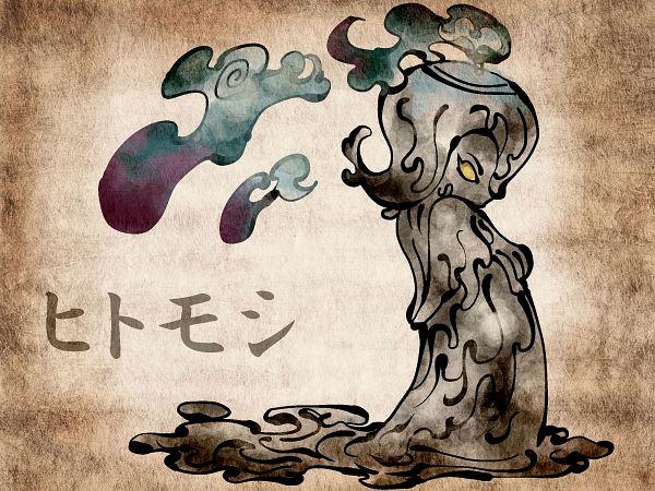 Tags: Anime, Shimanoko, Pokémon, Litwick, 2000x1500 Wallpaper, Nihonga, Wallpaper, Fanart, Pixiv