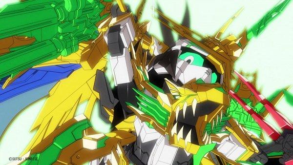 Tags: Anime, Sunrise (Studio), SD Gundam World Sangoku Soketsuden, Liu Bei Unicorn Gundam, HD Wallpaper, Screenshot, Twitter, Wallpaper, Official Art, Gundams
