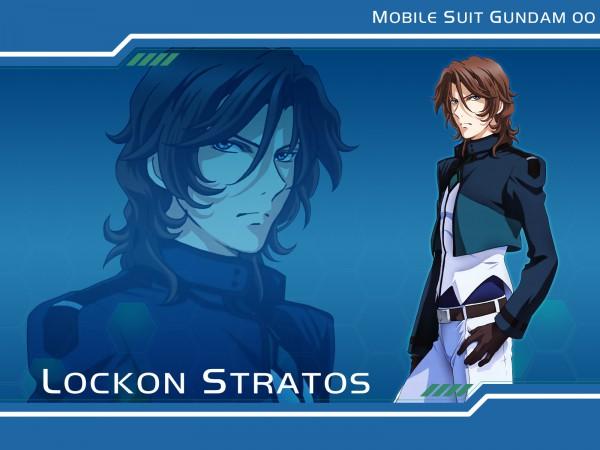 Tags: Anime, Mobile Suit Gundam 00, Lockon Stratos, Neil Dylandy, Lyle Dylandy, Wallpaper, Gundam Meisters