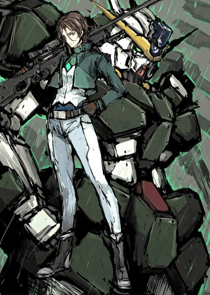 Tags: Anime, Mobile Suit Gundam 00, Neil Dylandy, Lyle Dylandy, Lockon Stratos, Mobile Wallpaper, Gundam Meisters