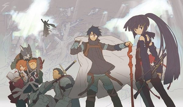 Tags: Anime, Hara Kazuhiro, Log Horizon, Shiroe (Log Horizon), Isuzu (Log Horizon), Nyanta (Log Horizon), Rundelhaus (Log Horizon), Naotsugu (Log Horizon), Touya (Log Horizon), Akatsuki (Log Horizon), Minori (Log Horizon), Official Art, Pixiv