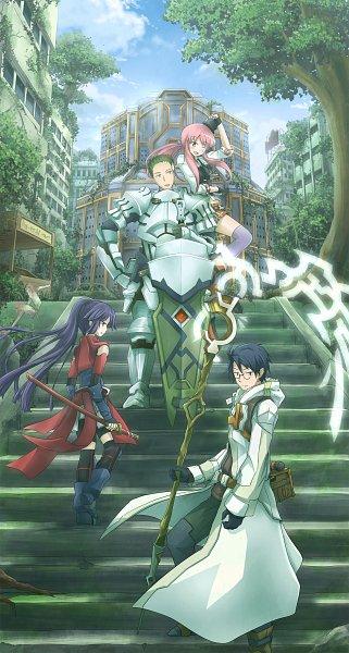 Tags: Anime, Pixiv Id 5390339, Log Horizon, Akatsuki (Log Horizon), Shiroe (Log Horizon), Tetra (Log Horizon), Naotsugu (Log Horizon)