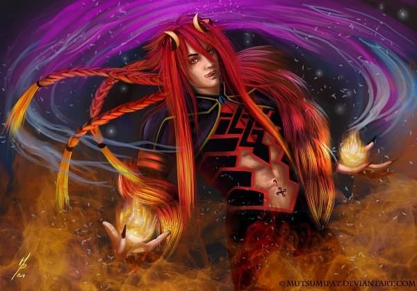 Tags: Anime, Mutsumipat, Kamigami no Asobi, Loki Laevatin, Demon Eye, deviantART, Fanart, Fanart From DeviantART