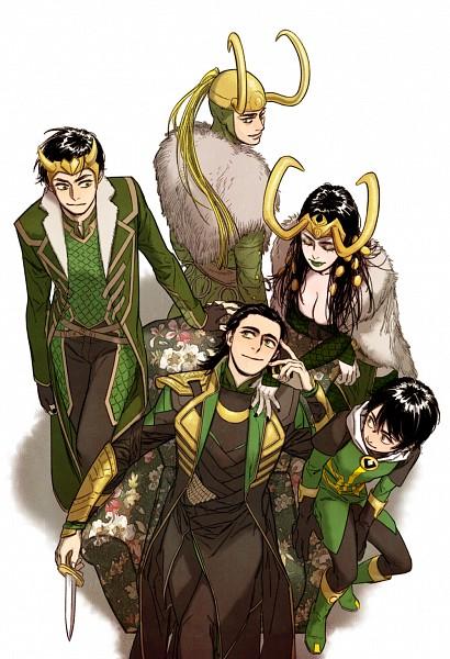 Tags: Anime, The Avengers, Thor (Film), Loki Laufeyson, Lady Loki, Marvel, Mobile Wallpaper, Artist Request