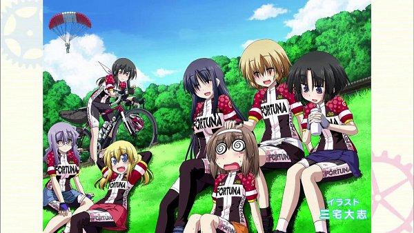 Tags: Anime, Long Riders!, Emi Kurata, Niigaki Aoi, Miya Saeki, Kurata Ami, Takamiya Saki, Ichinose Yayoi, Saijou Hinako, Wallpaper