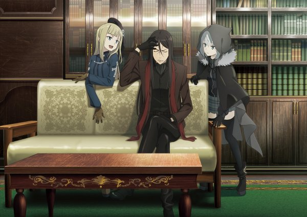 Tags: Anime, Nendo Jin, TROYCA, Lord El-Melloi II Case Files -Rail Zeppelin Grace note-, Lord El-Melloi II-sei no Jikenbo, Lord El-Melloi II, Waver Velvet, Gray (Lord El-Melloi II Case Files), Reines El-Melloi Archisorte, Hand on Forehead, Edited, Official Art