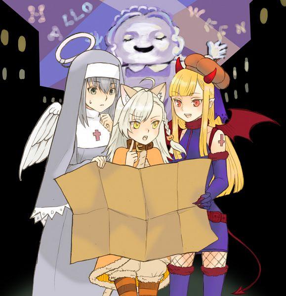 Tags: Anime, Satou Usuzuku, Lord El-Melloi II Case Files, Gray (Lord El-Melloi II Case Files), Olga Marie Animusphere, Reines El-Melloi Archisorte, Pixiv, Fanart, Fanart From Pixiv