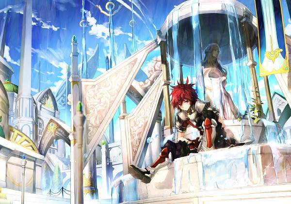 Tags: Anime, Agatsuma Rochan, Elsword, Lord Knight (Elsword), Elsword (Character), Statue, Transcendent Second Class