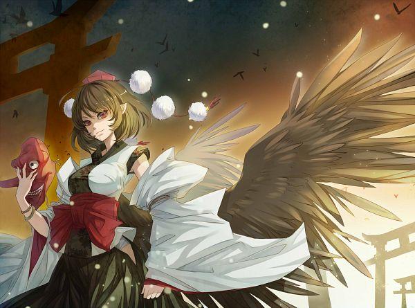 Tags: Anime, NYE, Touhou, MUGEN, Lord Tenma, Tengu Mask, Kourindou Tengu Costume, Pixiv, Fanart From Pixiv, Fanart
