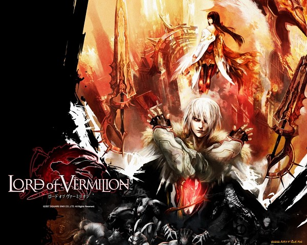 Tags: Anime, SQUARE ENIX, Lord of Vermilion, Rishia, Nido (Lord of Vermilion), Wallpaper, Official Art, Official Wallpaper