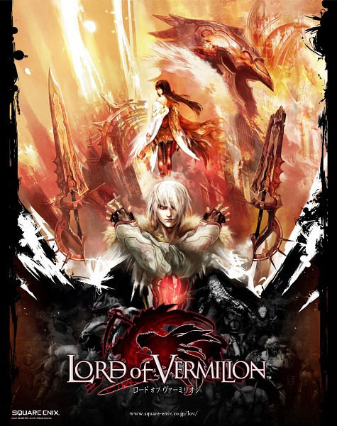 Tags: Anime, SQUARE ENIX, Lord of Vermilion, Rishia, Nido (Lord of Vermilion), Official Art, Artbook Cover