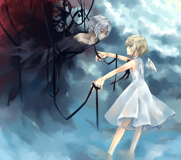 Tags: Anime, Dhiea (Pixiv270545), Lost-ko, Eien no Shounen, Day And Night, Pixiv, Lost (Sound Horizon), Sound Horizon