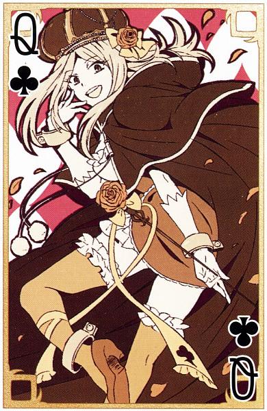 Tags: Anime, Xebec, SQUARE ENIX, Pandora Hearts, Lotti Baskerville, Mobile Wallpaper, Card (Source), Official Art, Scan, Baskerville