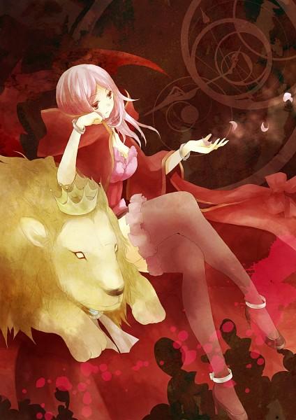 Tags: Anime, Lampnote17, Pandora Hearts, Lotti Baskerville, Leon (Chain), Mobile Wallpaper, Fanart, Baskerville