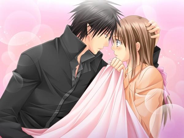 Tags: Anime, Love Drops, Hugo (Love Drops), Tanaka Kanata, Forehead Against Forehead, CG Art