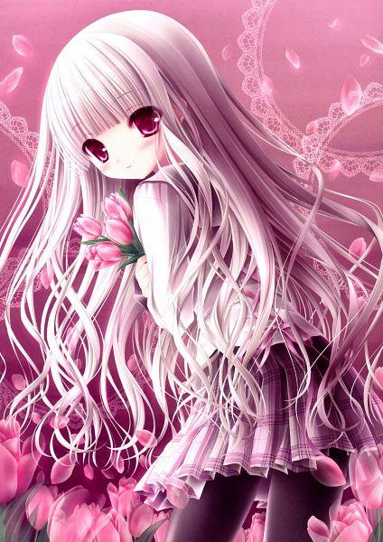 Tags: Anime, Tinkerbell, Love Kano, Mitsuya Chakai, Doily, Tulip, Yuusaki Kaede, Official Art, Mobile Wallpaper, Scan