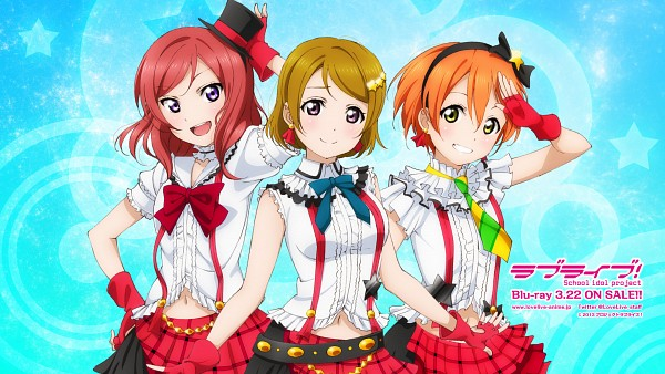 Tags: Anime, Love Live!, Hoshizora Rin, Koizumi Hanayo, Nishikino Maki, Bokura wa Ima no Naka de, Official Art, Official Wallpaper, Wallpaper, HD Wallpaper, Facebook Cover