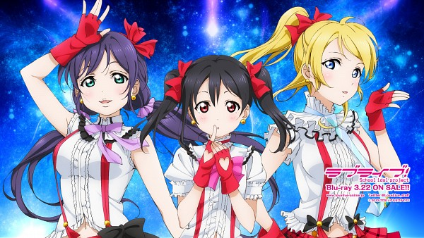 Tags: Anime, Sunrise (Studio), Love Live!, Yazawa Niko, Toujou Nozomi, Ayase Eri, HD Wallpaper, Wallpaper, Facebook Cover, Bokura wa Ima no Naka de, Official Art, Official Wallpaper